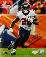 Lamar Miller Signed Houston Texans 8x10 Running vs Denver PF Photo- JSA W Auth