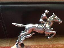 Art Deco DESMO Steeplechase Jockey/Horse Collectable silver coloured Mascot