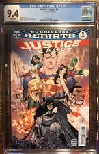 DC Universe Rebirth Justice League #1 cgc 9.4 white pages