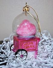 NEW SUR la TABLE  COTTON CANDY MAKER MACHINE Glass Blown Ornament Xmas Poland