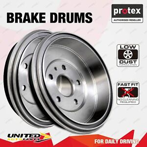 2 Rear Protex Brake Drums for Mitsubishi Lancer CC Hatch Mirage CE 1.5 1.8L