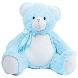 Personalised Blue Teddy Bear. New Baby/Birthday/Christening keepsake gift.
