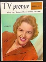 TV PREVUE Chicago Sun-Times digest March 20 1960 Kate Smith cover photo