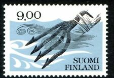 Finland 1998 issue of 9 Mk Four Pronged Fish Spear, Traditional Craft, MNH / UNM
