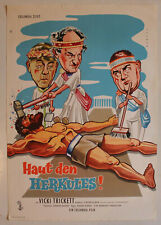 Three Stooges Meet Hercules original rolled German movie poster
