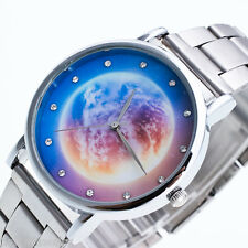 Damen Armbanduhr Uhr Quarzuhr Analog Stahlband Sternhimmel Wasserdicht M15646