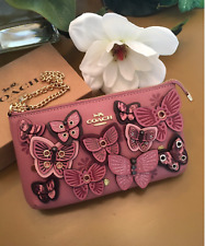NWT COACH LARGE WRISTLET WITH BUTTERFLY APPLIQUE #2955