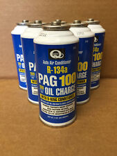 QTY 6 Quest Auto Air Conditioning R134a Pag 100 Oil Charge W/ O-ring Conditioner