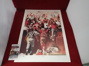 Jerry Rice Signed Autographed LIMITED EDITION Lithograph 17x23 - JSA NN91348