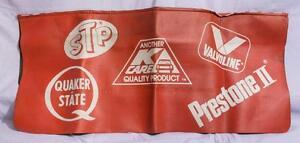 Vintage STP Prestoil Valvoline Quaker State Seat Cover Protector jds
