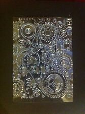 Steampunk Gears - Embossed Acetate Background Panels (Clear)