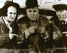 The Three Stooges Holding Beer Bottles Larry Moe Curly On The Beer Label CLASSIC