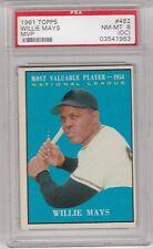 WILLIE MAYS -- 1961 TOPPS MVP -- #482 -- PSA GRADED NM-MT 8 (OC)