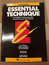 Essential Technique, Eb Alto Saxophone, (Essential Elements Band Method)