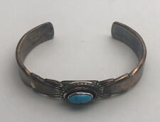 Ray Bennett Navajo Sterling Silver & Turquoise Cuff Bracelet 28.4g