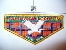 OA O Shot Caw Lodge 265 S115,2006,LEC Seminole Indian Patchwork,OR Flap,South FL