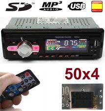 Radio para coche 50X4 autoradio SD/USB/AUX FM estéreo MP3 1 DIN con mando