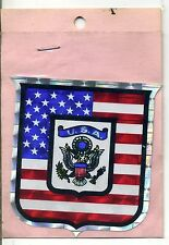 vtg prismatic sticker USA Eagle American flag pride liberty American