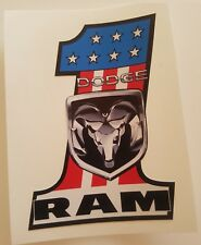 #194 USA FLAG No.1 DODGE RAM 9,5x7,5 cm AUFKLEBER STICKER AUTOCOLLANT ADHESIVE