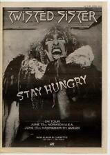 Twisted Sister UK Tour advert 1984 TRANSPARENT
