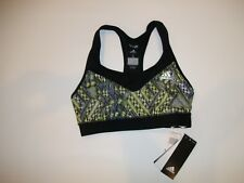 0e3c3c2b23854 adidas TECHFIT Q4 ClimaLite UPF 50+ Racerback Sports BRA Womens Size SMALL  NEW