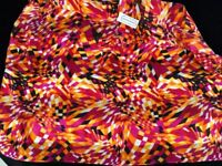 Adrienne Vittadini POPS of Color Silk Scarf 20x21 Hand Stitched