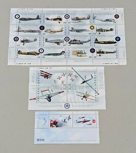 Stamp Pickers Canada Modern Souvenir Sheets Lot x 3 MNH RCAF Planes #10