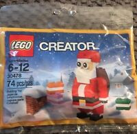 Lego 30478 Jolly Santa Polybag Creator 74 Pcs New Christmas Seasonal