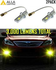 Alla Lighting LED H3 GOLDEN YELLOW Driving Light W/ Reflector housing on Bulb