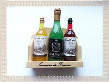 Lot Aimants Magnets Bouteilles de  Vin et Champagne Saveurs de France