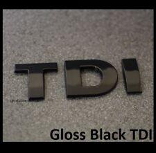 Gloss Black TDI Badge Emblem Decal VW Back Rear Boot Door Tailgate Trunk TDIB