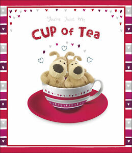Boofle Valentine's Card You're Just My Cup Of Tea Cute Valentine's Day Cards