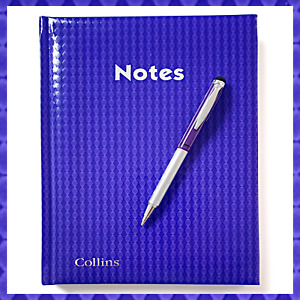 Collins Hype Notebook A5 Ruled 120 page + free ZEBRA TELESCOPIC PEN WORTH £5.99