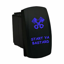 Start Ya Bastard 679bm Rocker Switch 12v Laser Momentary Led Blue Universal