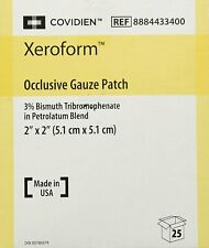 "Xeroform Occlusive Petrolatum Gauze Dressing 2"" X 2"" - Box of 25 REF:8884433400"