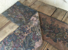 """Tapestry Table Runner Muted Color Subtle Grey 11 x 75"""" Floral Textile Reversible"""