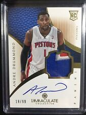 ANDRE DRUMMOND 2012-13 IMMACULATE COLLECTION RC AUTO 3 CLR RPA JERSEY SP /99