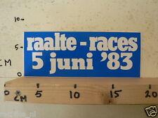 STICKER,DECAL RAALTE RACES 5 JUNI 1983 LUTTENBERGRING WEGRACE ROADRACING