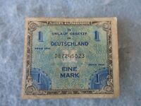 WWII US Army 1 Mark Germany Invasion Allied Currency Paratrooper 1944 WW2