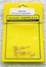 "Model Shipways Fittings MS2379. Boxwood Belaying Pins 1/4"" (6MM). 40 Pieces. NEW"
