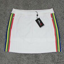 Ralph Lauren RLX Women's White Golf Skort Side Stripe Skirt Size Large $148