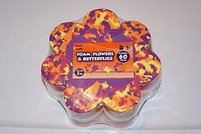 New 60 Flowers & Butterflies Shaped Kids Art Craft Foam Free Shipping! Help Bcr!