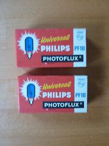 10 Universal Philips PF1B Photoflux Blitzbirnen, Originalzustand