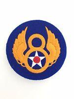 America American WW2 U.S 8th Army Air Force cloth sleeve patch BRITISH MADE FELT