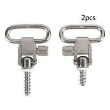 2X Stainless Steel Rifle Gun Sling Swivels with Studs Hunting Slings Mount dfr