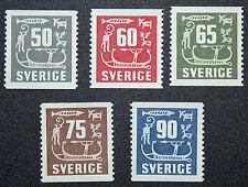 Timbre SUÈDE - Stamp SWEDEN - Yvert et Tellier n°389 à 393 n** (cyn15)