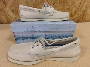 (Sizes:16M) Sperry Top-Sider Men's A/O 2-Eye Boat Shoe,Color Ice (off White) New