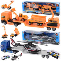 Kids Toy Recovery Vehicle Tow Truck Lorry Low Loader DieCast Construction Xmas