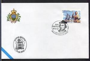 "32771) SAN MARINO 1997 FDC ""Uff. San Marino"" Bartolomeo M."