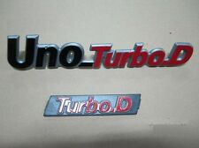 fiat uno turbo d td turbo.d logo stemma kit bage scritta anteriore E posteriore